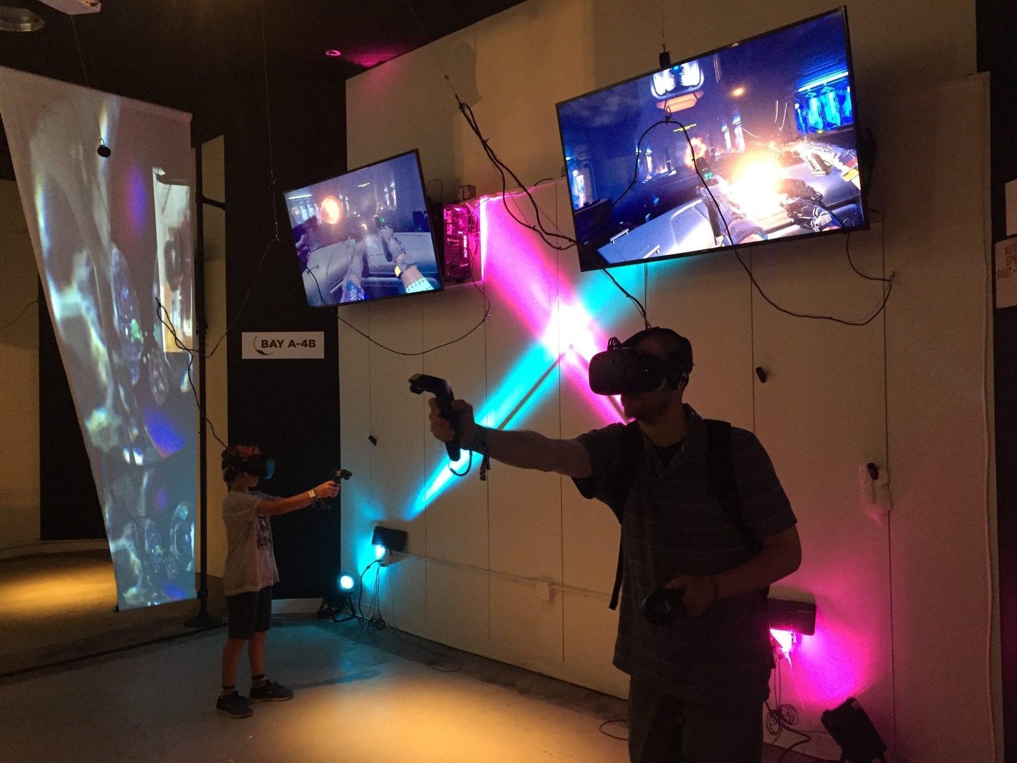 Playing At VR Arcade